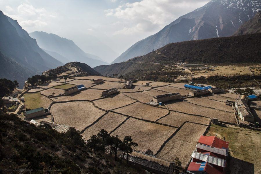 Thame village at an altitude of 3820 m