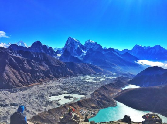 Trekking to the base camp of Mount Everest