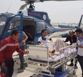 Helicopter rescue in Nepal