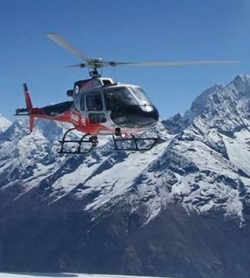 TREK EVEREST BC AND FLY BACK BY HELICOPTER-12 DAYS